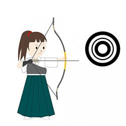 的(目標)を決めてから矢を射る(行動する)