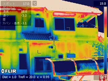 赤外線サーモグラフィー画像・ビフォー