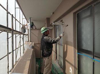 外壁 断熱塗装3回塗り