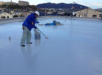 屋上 遮熱塗料塗り