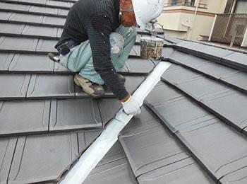 屋根鉄部 サビ止め塗装