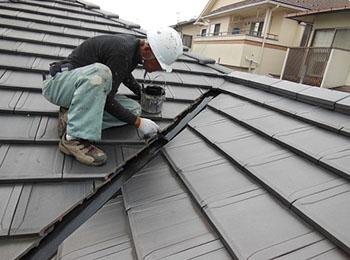 屋根鉄部 シリコン塗装