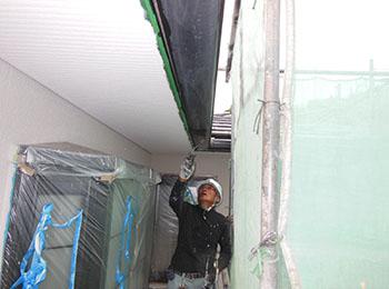 雨樋 塗装中