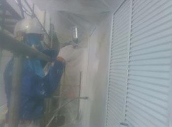 雨戸 吹き付け塗装3回