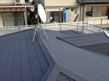 屋根 カラーベスト 施工後