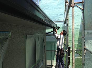 雨樋 割れ部取替え補修