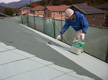 屋根 中塗り・上塗り