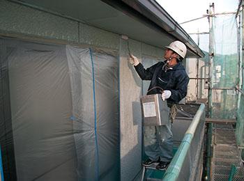外壁 シーラー塗り