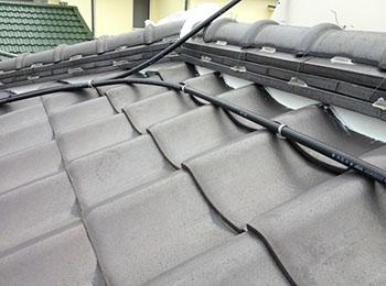 屋根 漆喰補修 施工後