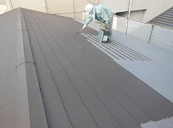 屋根 断熱塗料5回塗り