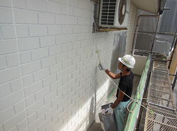 外壁 塗装中 3回塗り
