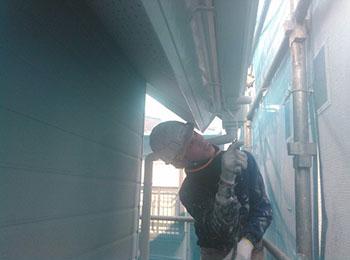 雨樋 塗装2回