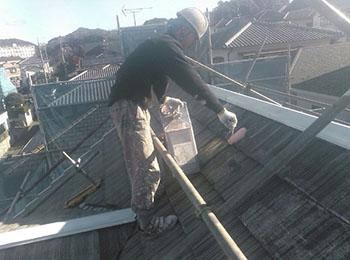 屋根 シーラー塗り2回