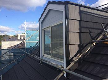 屋根 塗装完了