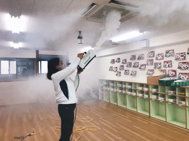 保育室のバクタクリーン除菌コーティング