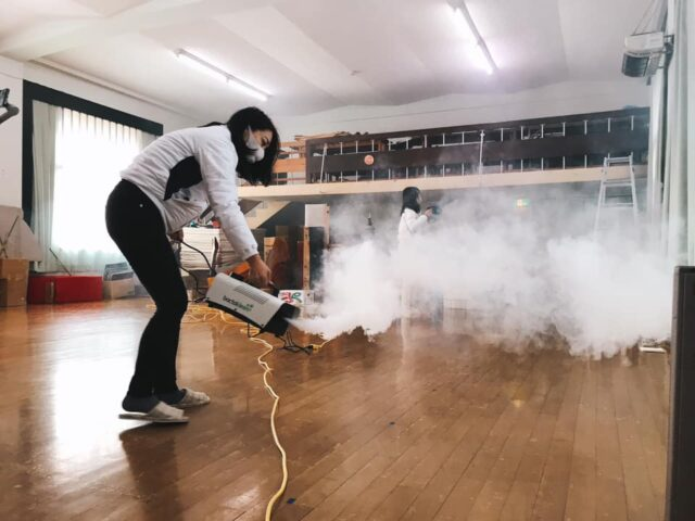 遊戯室のバクタクリーン除菌コーティング