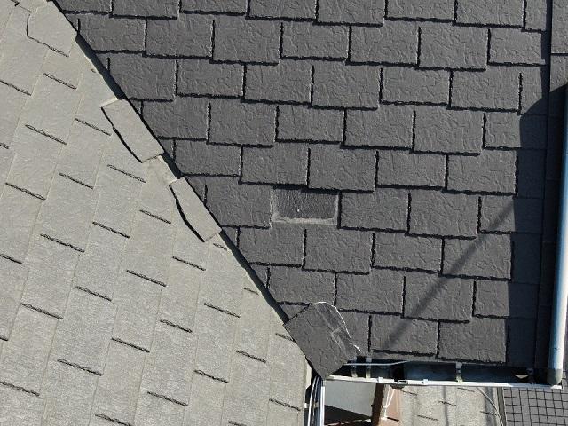 施工前にドローン撮影した屋根の画像