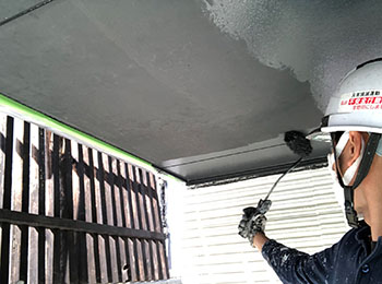 軒天上 塗装