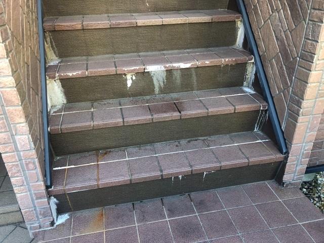 階段のエフロレッセンス