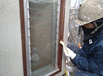 建具周り木枠塗装